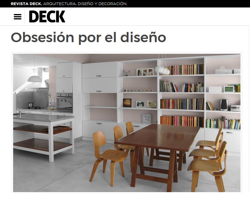 Obsesión por el diseño Revista Deck