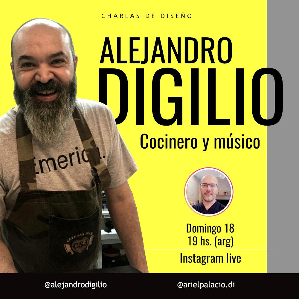ALEJANDRO DIGILIO, COCINERO Y MÚSICO